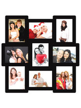 Trendzy 9 In 1 Collage Wall Hanging Photo Frame (TRNDZY9M), black