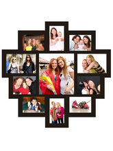 Trendzy 11 In 1 Collage Wall Hanging Photo Frame (TRNDZY11M), black