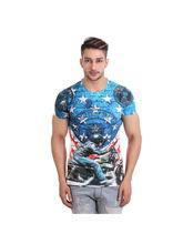 Schmick Us Harley Print Dark Blue T-Shirt, l