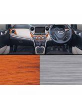Autographix Hyundai i10 Xcnt/Era/Magna Rosewood & Brushed Aluminium Basic Dashboard Trims