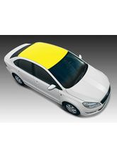 Autographix Bright Yellow Small Car Roof Wrap
