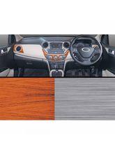 Autographix Hyundai i10 Xcnt/Asta/Sportz Rosewood & Brushed Aluminium Basic Dashboard Trims
