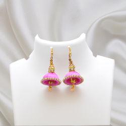 Silk Thread jhumki (M) Pink