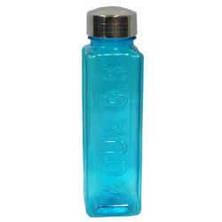 Square (Aqua) Blue Colour Water Bottle, blue colour 550 ml, single piece