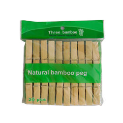 Three bamboo wooden clip, pocket 20 nos