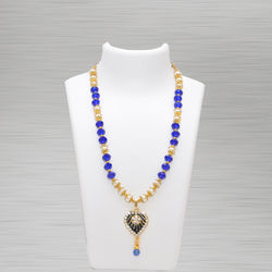 Crystal Necklace Dark Blue