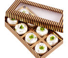 Ghasitaram Mothers Day Sweets Gold And Brown Kaju Peda Box