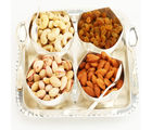 Ghasitaram Set of 4 Rose Cut Bowls with Dryfruits, 600 gms