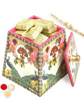Ghasitaram Multicolour Wooden Chocolate Jar With P...