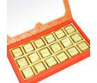 Punjabi Ghasitaram Diwali Sugarfree Chocolates 18 pcs Orange Printed Mixed Nuts Sugarfree Chocolate Box