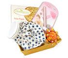 Punjabi Ghasitaram Rakhi Gifts For Sisters Sisters Basket Hamper With Soan Papdi