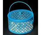 Punjabi Ghasitaram Rakhi Gifts For Sisters Big Blue Metal Light Basket