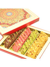 Punjabi Ghasitaram Diwali Gifts Sweets Assorted Kaju Katlis In Fancy Box