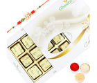 Punjabi Ghasitaram Assorted Chocolates 12 Pcs White Box With Om Rakhi