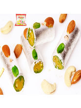 Punjabi Ghasitaram Holi Sugarfree Sweets-Sugar Free Kaju Pista Roll, 200 gm