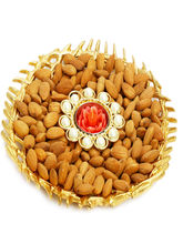 Punjabi Ghasitaram Diwali Hampers Gold Almonds And T Lite Platter