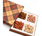 Ghasitaram Mothers Day Golden Checks Dryfruit Box