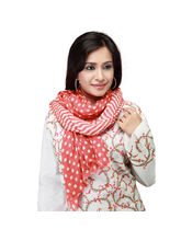 Ghasitaram Mothers Day Gifts Red Dots Scarf