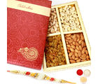 Punjabi Ghasitaram Celebration Dryfruits Box With Pearl Rakhi