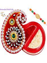 Punjabi Ghasitaram Rakhi Gifts Tikka Chawal Conatiner, only rakhi