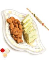 Ghasitaram Silver 2 Part Chocolate And Almonds Tra...