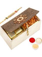 Ghasitaram Jute 2 Part Chocolate And Almonds Box W...