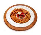 Ghasitaram Diwali Hampers- Silver Wooden Almond Platter With Mini Pooja Thali