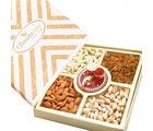 Ghasitaram Diwali Hampers- Ghasitaram Special Dryfruit Box With Mini Pooja Thali