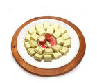 Ghasitaram Diwali Hampers- Silver Wooden Chocolate Platter With Mini Pooja Thali