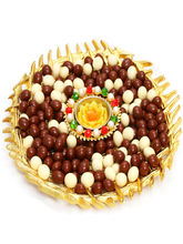 Punjabi Ghasitaram Diwali Hampers Gold Nutties And T Lite Platter