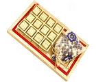 Ghasitaram Diwali Chocolates- Red and Gold 8 Pcs Chocolate and Nutties Tray