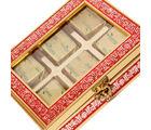 Punjabi Ghasitaram Diwali Chocolate Red 6 Pcs Metal Box
