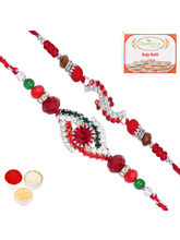 Punjabi Ghasitaram Set Of 2 And Diamond Rakhis, On...