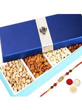 Punjabi Ghasitaram Blue Dryfruit Long Box With Om ...