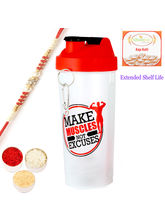Ghasitaram Gym Shaker Bottle With Om Red Pearl Rak...