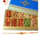 Punjabi Ghasitaram Exotic Dryfruit Box Of 10 Dryfruits With Om Rakhi