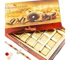 Punjabi Ghasitaram Assorted Chocolate Box With Om Rakhi