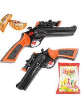 Punjabi Ghasitaram Holi Special Set Of Two Water Guns Pistols Brown, only guns