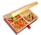 Ghasitaram Mothers Day Big Golden Printed Cashews, Almonds, Diyas And Toran Hamper Box
