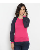 Bedazzle Casual Full Sleeve Printed Womens Pink Top (KF-982), m