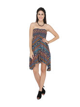 Bedazzle Womens Tube Multicolor Dress (KF-953-L), l