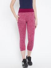 C9 Airwear Womens Solid Pink Melange Active Capri (MZ7107_ PZink), xl