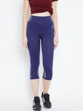 C9 Airwear Yoga/Zym Capri For Womens-Original Fine Fabric (PZ7109_ EstateBlue), xl