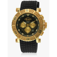Lee Cooper Lc-090710 R1-Ggb Black/Golden Chronograph Watch