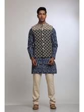 Manu Couture Designer Kurta Pyjama Set With Nehru Jacket (MCKPNJ-13), multicolor, xl