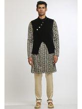 Manu Couture Designer Kurta Pyjama Set With Nehru Jacket (MCKPNJ-8), multicolor, l
