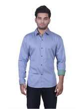Manu Couture Designer Shirt For Men's (MCMS-52), blue, l