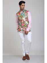 Manu Couture Nehru Jacket For Men (MCNJ-13), multicolor, l