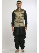 Manu Couture Designer Kurta Pyjama Set With Nehru Jacket (MCKPNJ-21), multicolor, l