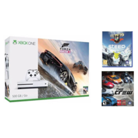 Microsoft Xbox One S 500 GB with Forza Horizon 3, The Crew, Steep (White)
